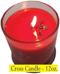Cross Charm Candle 12 oz