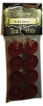 Holly Berry - Tea Light Candle - 8 Pack