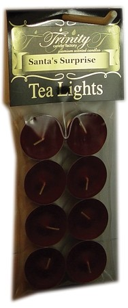 Santa's Surprise - Tea Light Candle - 8 Pack