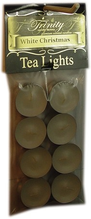 White Christmas - Tea Light Candle - 8 Pack