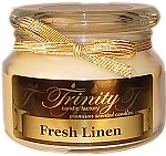 Fresh Linen - Traditional - Soy Jar Candle - 12 oz