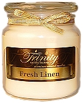 Fresh Linen - Traditional - Soy Jar Candle - 18 oz