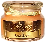 Leather - Traditional - Soy Jar Candle - 12 oz