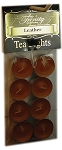 Leather - Tea Light Candle - 8 Pack