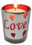 Valentine Candle & Holder - Love