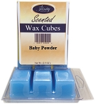 Baby Powder - Blue - Scented Wax Cube Melts - 3.25 oz.