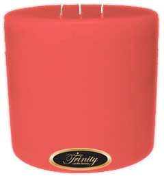 Baby Powder - Pink - Pillar Candle - 6x6