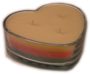 Heart Candle - 18 oz. Soy - Hearts & Flowers