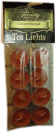Gingerbread - Tea Light Candle - 8 Pack